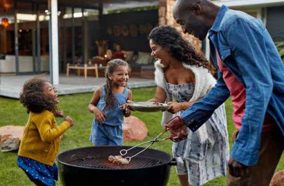 Barbecue avec pergola