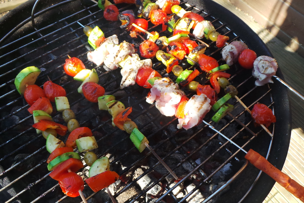 brochette de légume au barbecue