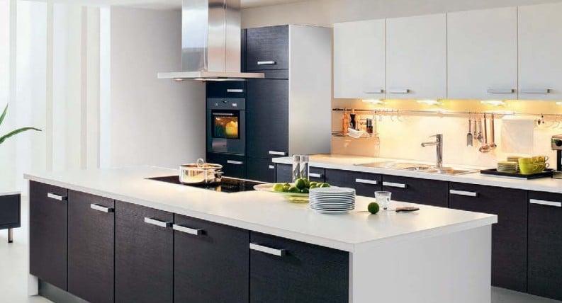 cuisine noire et blanche aviva
