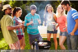 barbecue geant sur le theme champetre